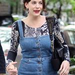 Liv Tyler in New York with mother and son Milo 61714