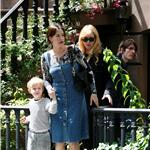 Liv Tyler in New York with mother and son Milo 61715