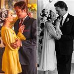 Lindsay Lohan's recreation of Elizabeth Taylor's wedding photo/Elizabeth Taylor's wedding photo 124622