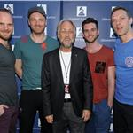 Will Champion, Jonny Buckland, Neil Portnow,Guy Berryman and Chris Martin attend Coldplay in Concert presented by Samsung AT&T Summer Krush 2011  91600