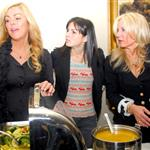 Ali Lohan with Dina Lohan at a Thanksgiving volunteer dinner 51185
