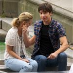 Drew Barrymore and Justin Long kissing on a boat shooting scene for Going the Distance 44241
