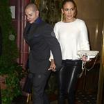 Jennifer Lopez and Casper Smart have dinner at Cipriani in Soho 121549