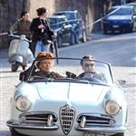 Sophia Loren and Daniel Day Lewis shooting Nine in Rome 31462
