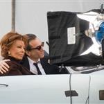 Sophia Loren and Daniel Day Lewis shooting Nine in Rome 31461