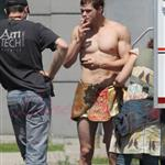 Kellan Lutz in loin cloth costume for Immortals in Montreal June 2010 63372