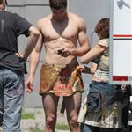 Kellan Lutz in loin cloth costume for Immortals in Montreal June 2010 63375