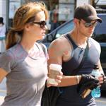 Kellan Lutz and Elizabeth Reaser after the gym 44357