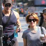 Kellan Lutz and Elizabeth Reaser after the gym 44351