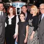 Jon Hamm, Christina Hendricks, Kiernan Shipka, January Jones and John Slattery pose after ringing the opening bell at the New York Stock Exchange 109629