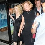 Madonna and Israeli politician Tzipi Livni leave a restaurant in Tel Aviv after dinner 45819