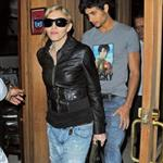 Madonna out for dinner in London with Jesus and his friend 46992