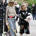 Gwyneth Paltrow and Madonna leaving their gym 2008 91317