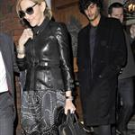 Madonna in ants pants with Jesus Luz out in London 57960