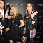 Madonna and Lourdes walk carpet together at Material Girl launch at Macy's 69319