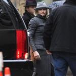 Madonna in New York inspecting her new residence 83305