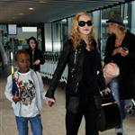 Madonna at Heathrow with Rocco and David Banda  88360
