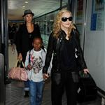 Madonna at Heathrow with Rocco and David Banda  88363