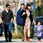 Maggie Gyllenhaal and daughter Ramona with Peter Sarsgaard and Jake Gyllenhaal 54548