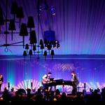Marcus Mumford and Mumford & Sons perform during a state dinner, hosted by U.S. President Barack Obama for British Prime Minister David Cameron, at the South Lawn of the White House 108983