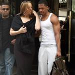 Mariah Carey and Nick Cannon leave their hotel in Paris 112970