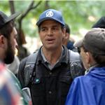 Mark Ruffalo at Occupy Wall Street  95507