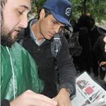Mark Ruffalo at Occupy Wall Street  95508