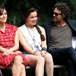 Keira Knightley, Hailee Steinfeld and Mark Ruffalo on the set of their new movie Can A Song Save Your Life?  in New York City 121210