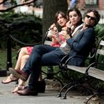 Keira Knightley, Hailee Steinfeld and Mark Ruffalo on the set of their new movie Can A Song Save Your Life?  in New York City 121211