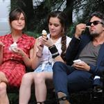 Keira Knightley, Hailee Steinfeld and Mark Ruffalo on the set of their new movie Can A Song Save Your Life?  in New York City 121216