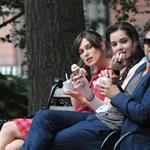 Keira Knightley, Hailee Steinfeld and Mark Ruffalo on the set of their new movie Can A Song Save Your Life?  in New York City 121221