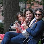Keira Knightley, Hailee Steinfeld and Mark Ruffalo on the set of their new movie Can A Song Save Your Life?  in New York City 121222