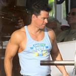 Mark Wahlberg on the set of Pain and Gain 110513