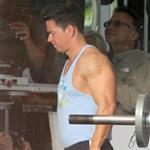 Mark Wahlberg on the set of Pain and Gain 110516