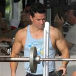 Mark Wahlberg on the set of Pain and Gain 110517