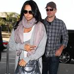 Matt Damon seen leaving LAX with his wife 108212