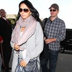 Matt Damon seen leaving LAX with his wife 108213