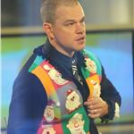 Matt Damon in a Christmas sweater on The Today Show  100616