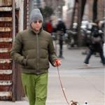 Matthew Broderick walking his dog 17521
