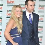 Matthew Lewis and his girlfriend at The 2012 Jameson Empire Awards 109680
