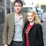 Matthew Lewis and Evanna Lynch at the ITV studios London April 2011 90867