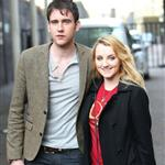 Matthew Lewis and Evanna Lynch at the ITV studios London April 2011 90868