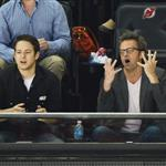 Matthew Perry (R) attends the Los Angeles Kings vs the New Jersey Devils game five during the 2012 Stanley Cup final  117684