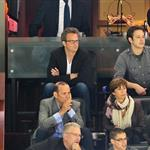 Matthew Perry (R) attends the Los Angeles Kings vs the New Jersey Devils game five during the 2012 Stanley Cup final  117690