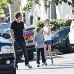 Ryan Phillippe takes his kids Ava and Deacon to IHOP for breakfast 77430