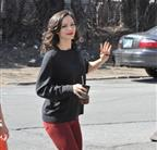 Katharine McPhee on the set of Smash in New York 109298