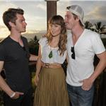 Andrew Garfield, Olivia Wilde,  Garrett Hedlund attend the Opening Night Reception for the 2011 Maui Film Festival  87680