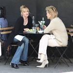 Sharon Stone and Melanie Griffith having lunch  33954