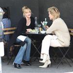 Sharon Stone and Melanie Griffith having lunch  33956