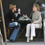Sharon Stone and Melanie Griffith having lunch  33946